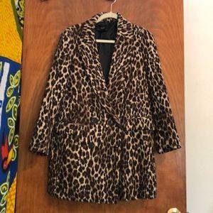 Leopard print blazer jacket